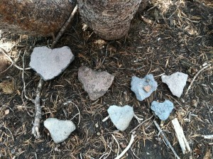 Rock hearts from Shasta
