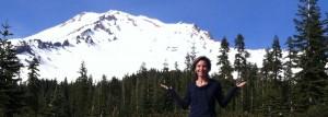 Lauren at Mt. Shasta