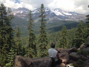 Meditation on the mountain.